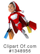 Young White Male Super Hero Santa Clipart #1348956 by Julos
