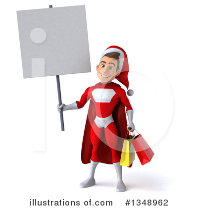 Young White Male Super Hero Santa Clipart #1348962 by Julos