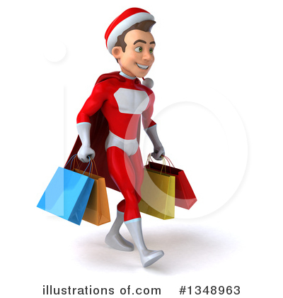 Young White Male Super Hero Santa Clipart #1348963 by Julos