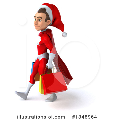 Young White Male Super Hero Santa Clipart #1348964 by Julos