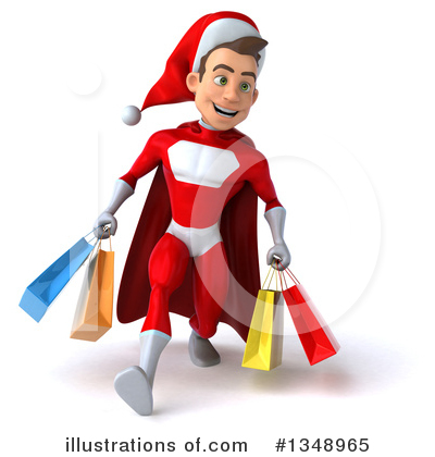 Young White Male Super Hero Santa Clipart #1348965 by Julos