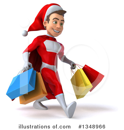 Young White Male Super Hero Santa Clipart #1348966 by Julos