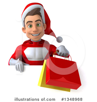 Young White Male Super Hero Santa Clipart #1348968 by Julos