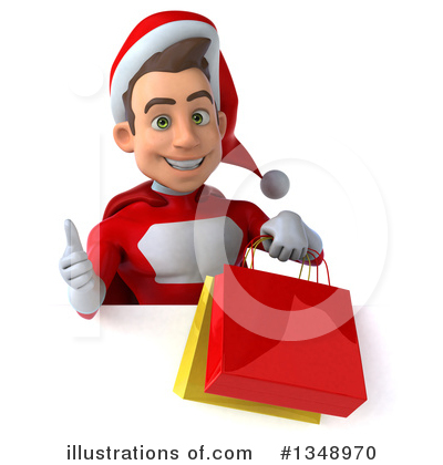 Young White Male Super Hero Santa Clipart #1348970 by Julos