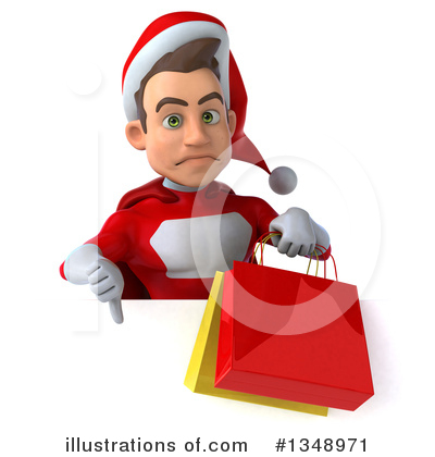 Young White Male Super Hero Santa Clipart #1348971 by Julos