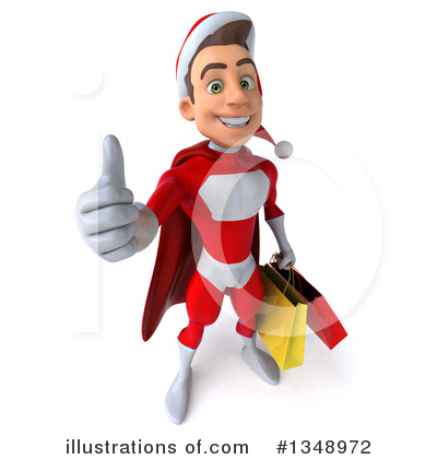 Young White Male Super Hero Santa Clipart #1348972 by Julos