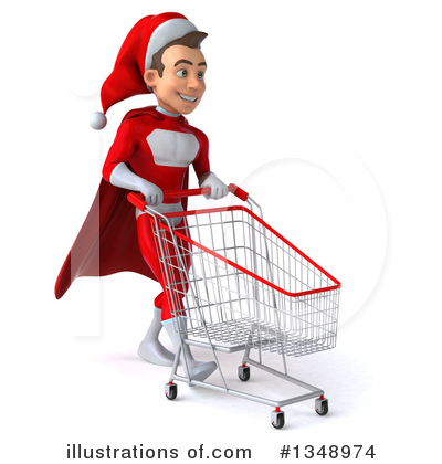 Young White Male Super Hero Santa Clipart #1348974 by Julos