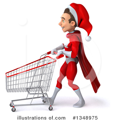 Young White Male Super Hero Santa Clipart #1348975 by Julos