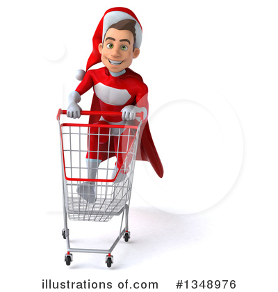 Young White Male Super Hero Santa Clipart #1348976 by Julos