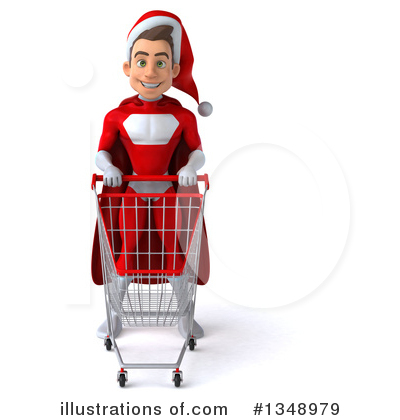 Young White Male Super Hero Santa Clipart #1348979 by Julos