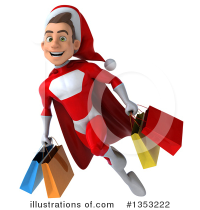 Young White Male Super Hero Santa Clipart #1353222 by Julos