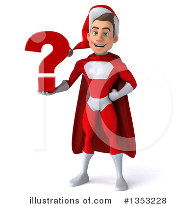 Young White Male Super Hero Santa Clipart #1353228 by Julos