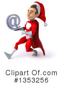 Young White Male Super Hero Santa Clipart #1353256 by Julos