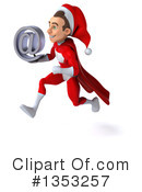 Young White Male Super Hero Santa Clipart #1353257 by Julos