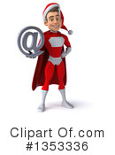 Young White Male Super Hero Santa Clipart #1353336 by Julos