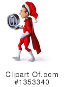 Young White Male Super Hero Santa Clipart #1353340 by Julos