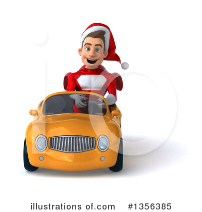 Royalty-Free (RF) Young White Male Super Hero Santa Clipart Illustration by Julos - Stock Sample #1356385