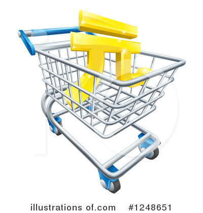 Shopping Cart Clipart #1248651 by AtStockIllustration