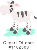 Royalty-Free (RF) Zebra Clipart Illustration #1182803