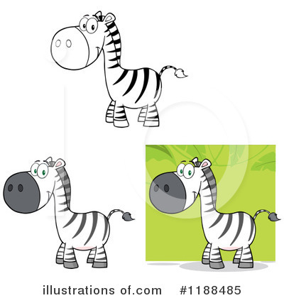 Zebra Clipart #1188485 by Hit Toon