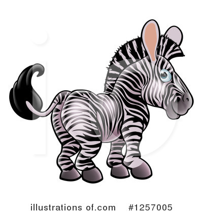 Zebra Clipart #1257005 by AtStockIllustration