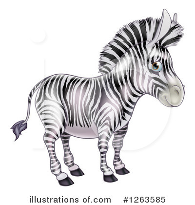 Royalty-Free (RF) Zebra Clipart Illustration by AtStockIllustration - Stock Sample #1263585