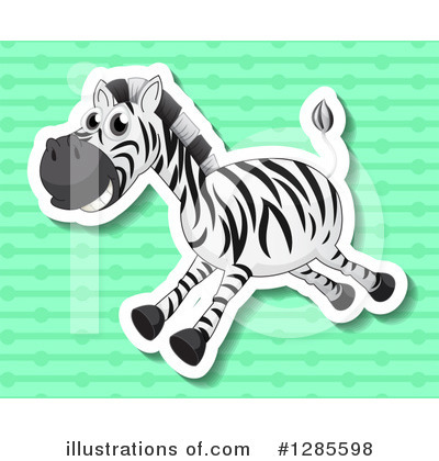 Zebra Clipart #1285598 by Graphics RF
