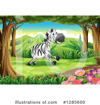 Zebra Clipart #1285600 by Graphics RF