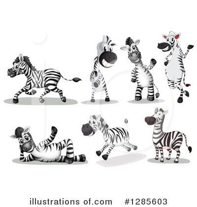Zebra Clipart #1285603 by Graphics RF