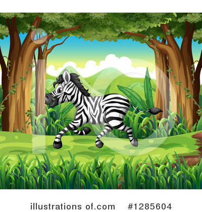 Zebra Clipart #1285604 by Graphics RF