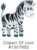 Royalty-Free (RF) Zebra Clipart Illustration #1307852