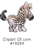 Royalty-Free (RF) zebra Clipart Illustration #16254