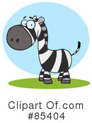 Royalty-Free (RF) zebra Clipart Illustration #85404
