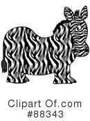 Royalty-Free (RF) zebra Clipart Illustration #88343