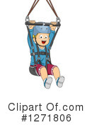 Ziplining Clipart #1271806 by BNP Design Studio