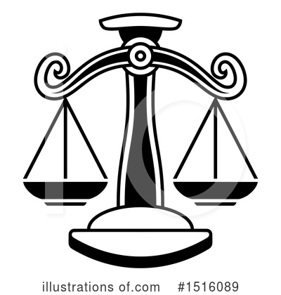 Scales Of Justice Clipart #1516089 by AtStockIllustration