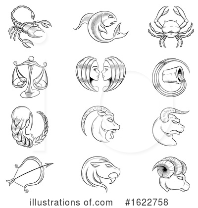 Royalty-Free (RF) Zodiac Clipart Illustration by cidepix - Stock Sample #1622758