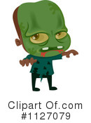 Royalty-Free (RF) zombie Clipart Illustration #1127079
