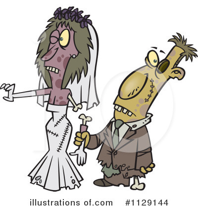 Wedding Couple Clipart #1129144 by toonaday