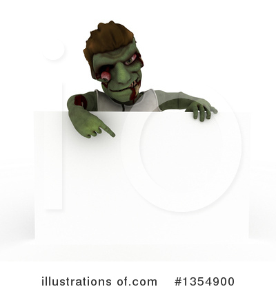 Zombie Clipart #1354900 by KJ Pargeter