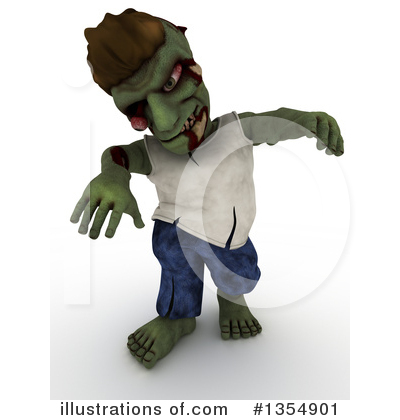 Zombie Clipart #1354901 by KJ Pargeter