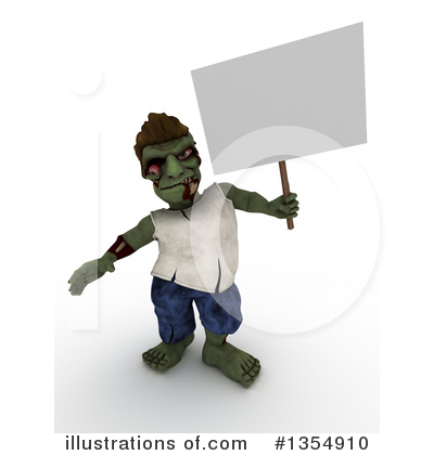 Zombie Clipart #1354910 by KJ Pargeter
