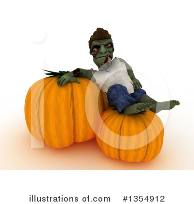 Zombie Clipart #1354912 by KJ Pargeter