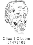 Royalty-Free (RF) Zombie Clipart Illustration #1478168