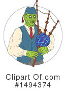 Royalty-Free (RF) Zombie Clipart Illustration #1494374