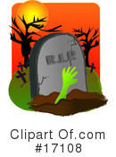 Royalty-Free (RF) zombie Clipart Illustration #17108