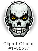 Zombie Skull Clipart #1432597 by Cory Thoman