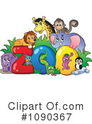 Royalty-Free (RF) zoo animals Clipart Illustration #1090367