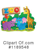 Zoo Animals Clipart #1189548 by visekart