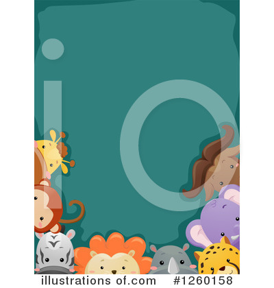 Royalty-Free (RF) Zoo Animals Clipart Illustration by BNP Design Studio - Stock Sample #1260158